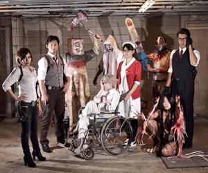 cosplay group, cool cosplay, and the evil within image