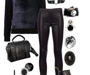 black, dark, and outfit image