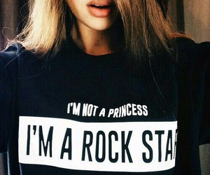 princess, rock star, and black image