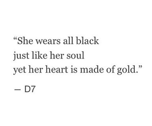 black, quote, and gold image