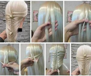 hair, hairstyles, and tutorials image