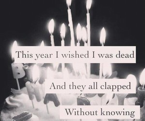 black and white, birthday, and candels image