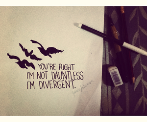 draw, divergent, and dauntless image