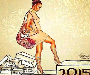 girl, New Life, and new year image