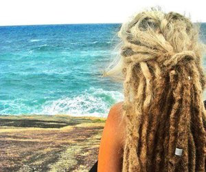 dreads, sea, and beach image