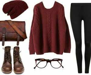 autumn, style, and sweater image