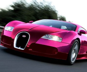 pink, bugatti, and car image