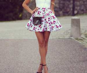 skirt, flowers, and outfit image