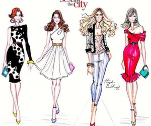 sex and the city, drawing, and hayden williams image