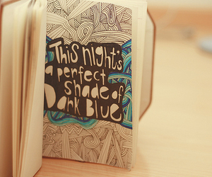 blue, night, and book image