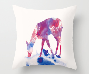 art, bed, and fawn image