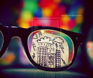 glasses, photography, and drawing image