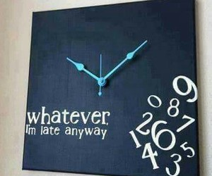 clock, Late, and time image
