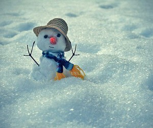 winter, snowman, and snow image
