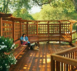 trellis on a deck