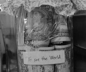 money, world, and travel image