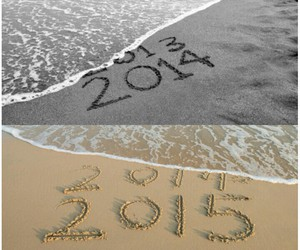 beach, happy new year, and change image