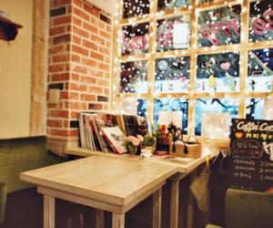 christmas, cafe, and light image