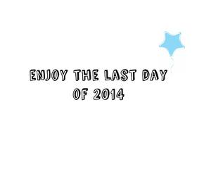 enjoy, last day, and 2014 image
