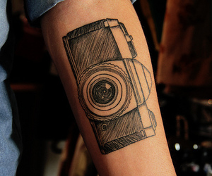 tattoo, camera, and photo image