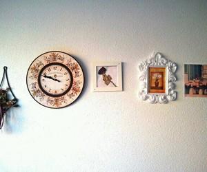 art, wall, and clock image