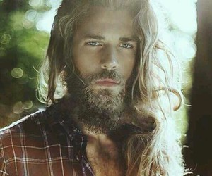 beard, Hot, and long hair image