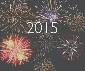 new year, 2015, and fireworks image