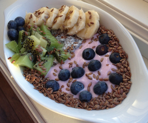 banana, blueberries, and fitness image