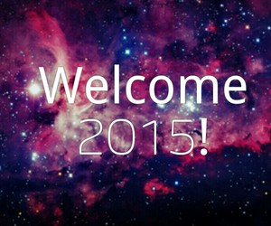 bye, welcome, and 2015 image