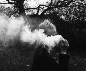 girl, smoke, and photography image