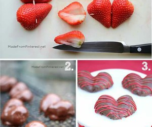 strawberry, diy, and chocolate image