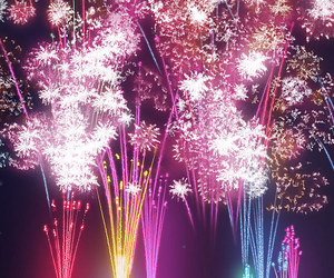 fireworks, colors, and light image