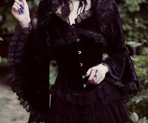 goth, gothic, and victorian image