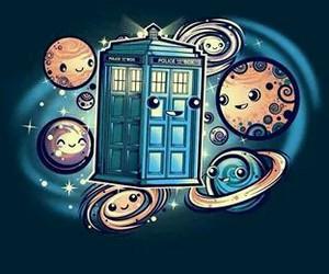 doctor who, planets, and tardis image