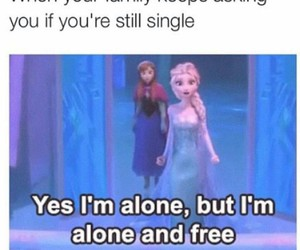frozen, funny, and single image