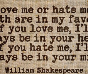 hate, quote, and shakespeare image