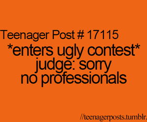 ugly, contest, and post image