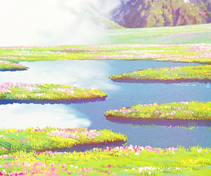anime, landscape, and studio ghibli image
