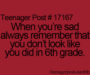 teenager post, funny, and sad image