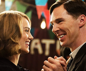 benedict cumberbatch, keira knightley, and movie image