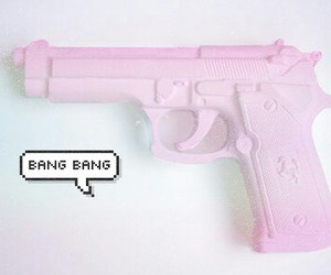 pink, pale, and bang image