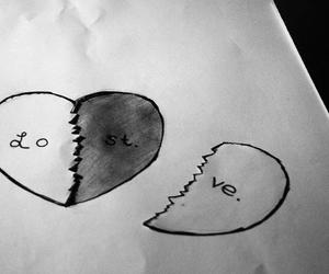 couple, draw, and heart image