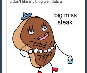 funny, steak, and lol image