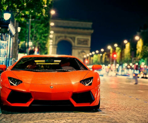 Lamborghini, car, and orange image
