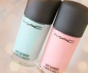 mac, nails, and pink image