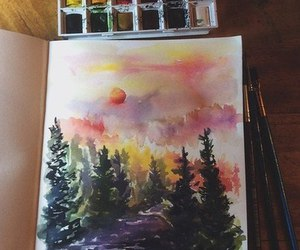 art, forest, and inspiration image