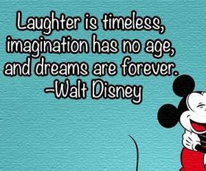 micky mouse, qoute, and minnie mouse image