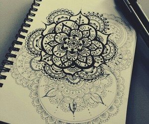<3, black & white, and doodle image