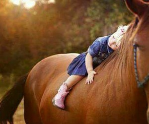 horse, baby, and child image