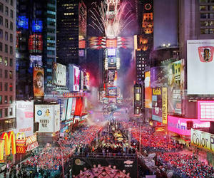 new york, light, and times square image